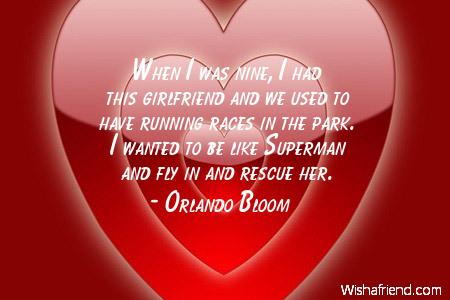 girlfriend-When I was nine, I