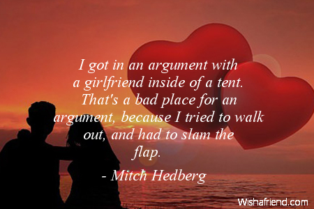 girlfriend-I got in an argument