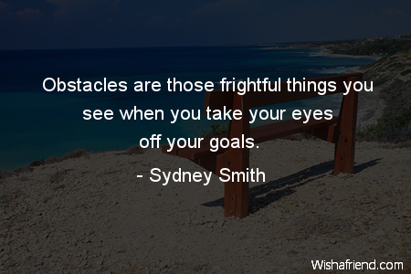 goals-Obstacles are those frightful things