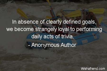 goals-In absence of clearly defined