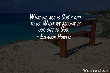 god-What we are is God's