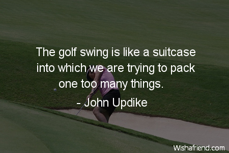 golf-The golf swing is like