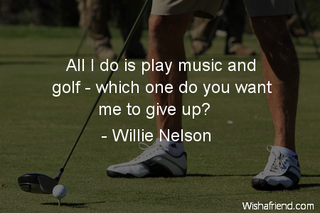 golf-All I do is play