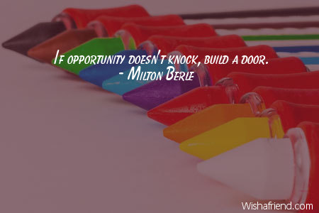 graduation-If opportunity doesn't knock, build