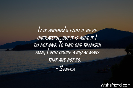 It Is Anothers Fault If Seneca Quote