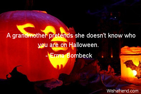 halloween-A grandmother pretends she doesn't