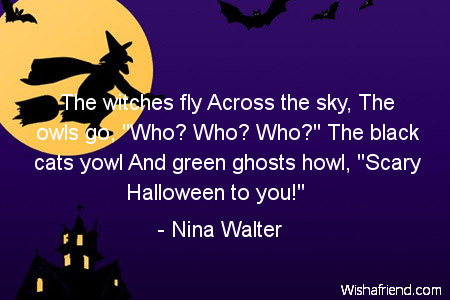 halloween-The witches fly Across the