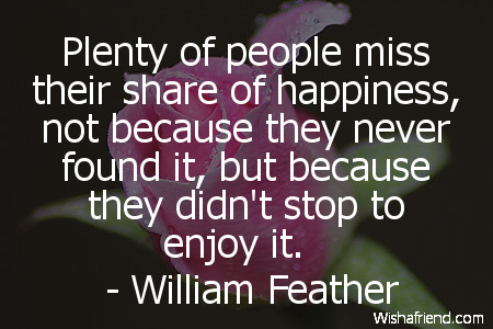 happiness-Plenty of people miss their