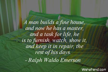 home-A man builds a fine