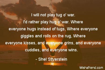 hug-I will not play tug