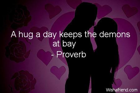 hug-A hug a day keeps