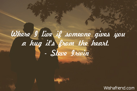 hug-Where I live if someone