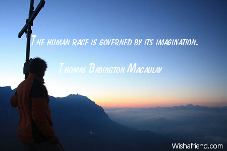 imagination-The human race is governed