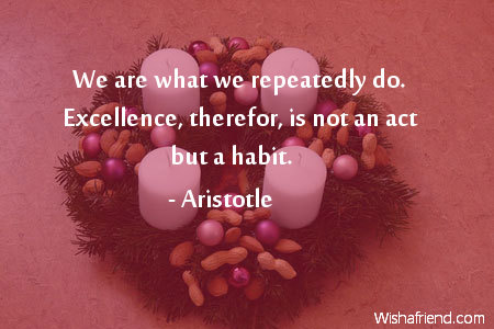 inspiration-We are what we repeatedly