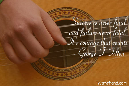 inspiration-Success is never final and