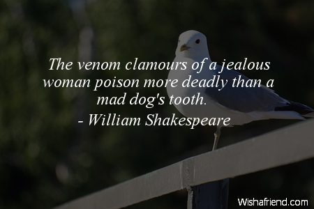 jealousy-The venom clamours of a