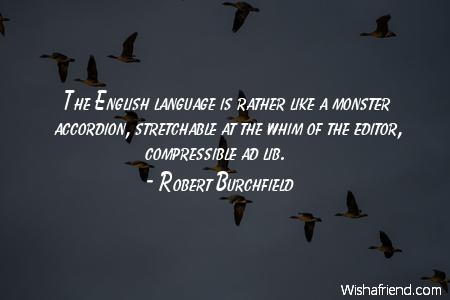 language-The English language is rather