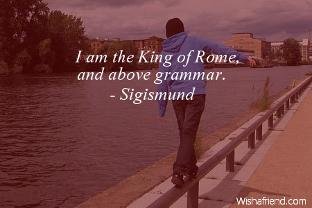 language-I am the King of
