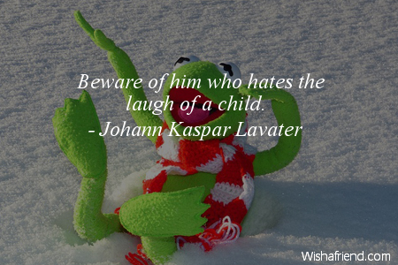 laughter-Beware of him who hates