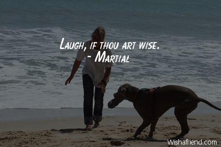 laughter-Laugh, if thou art wise.