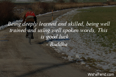 luck-Being deeply learned and skilled,