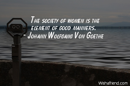 manners-The society of women is