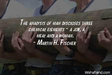 men-The analysis of man discloses