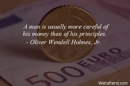 money-A man is usually more