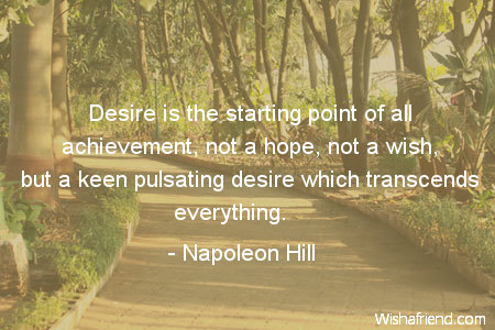 motivational-Desire is the starting point
