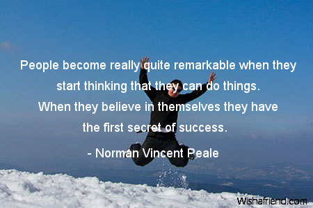 motivational-People become really quite remarkable