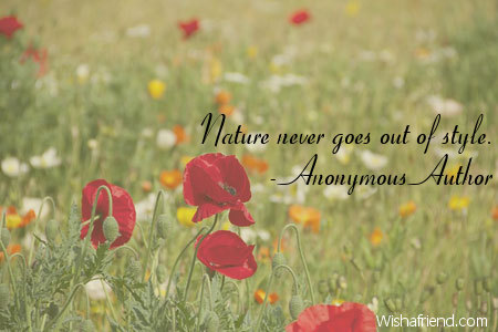 nature-Nature never goes out of