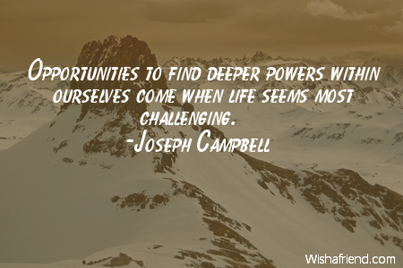 opportunity-Opportunities to find deeper powers