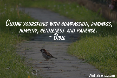 Bible Quote Clothe Yourselves With Compassion Kindness Humility