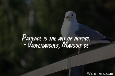 patience-Patience is the art of