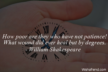 patience-How poor are they who