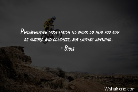 perseverance-Perseverance must finish its work