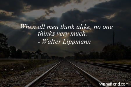 perspective-When all men think alike,