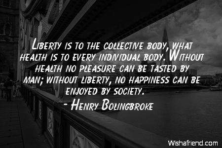 perspective-Liberty is to the collective