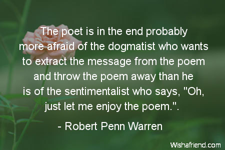 poetry-The poet is in the