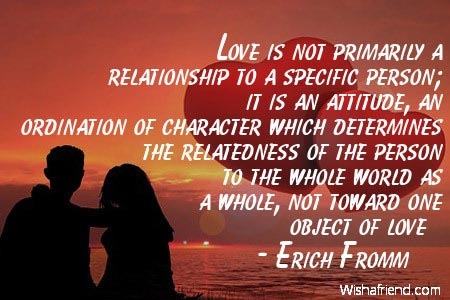 relationship-Love is not primarily a