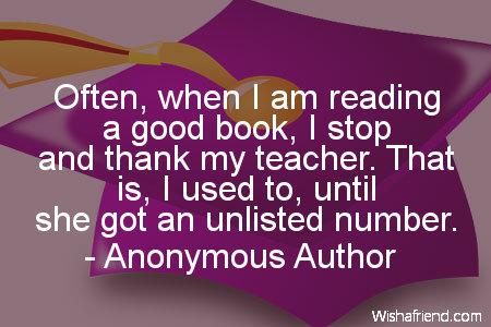 school-Often, when I am reading