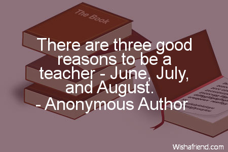 school-There are three good reasons