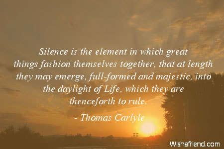 silence-Silence is the element in