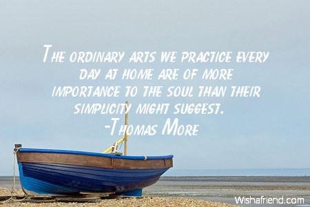 simplicity-The ordinary arts we practice
