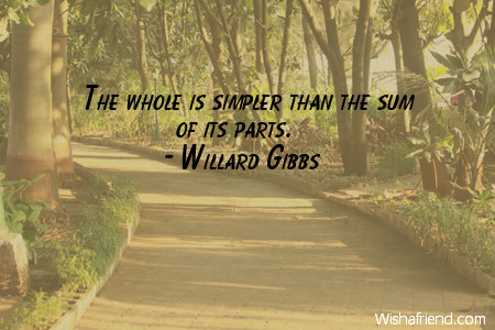 simplicity-The whole is simpler than
