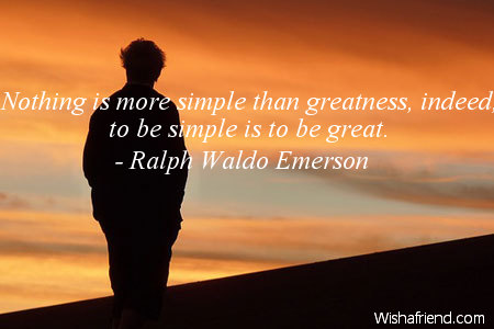 simplicity-Nothing is more simple than