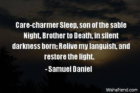 sleep-Care-charmer Sleep, son of the