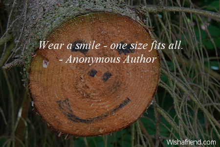 smiles-Wear a smile - one