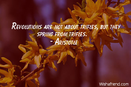 spring-Revolutions are not about trifles,