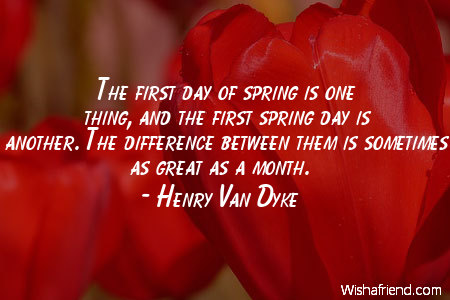 spring-The first day of spring